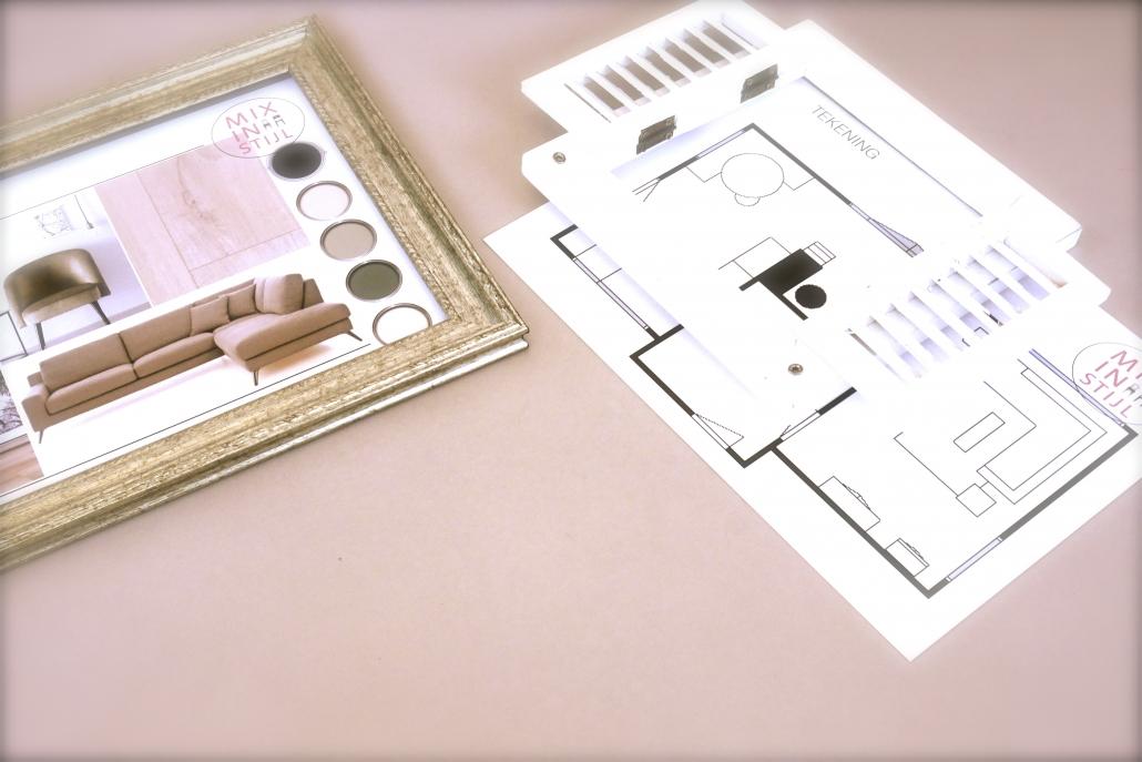 Moodboard en tekening interieuradvies