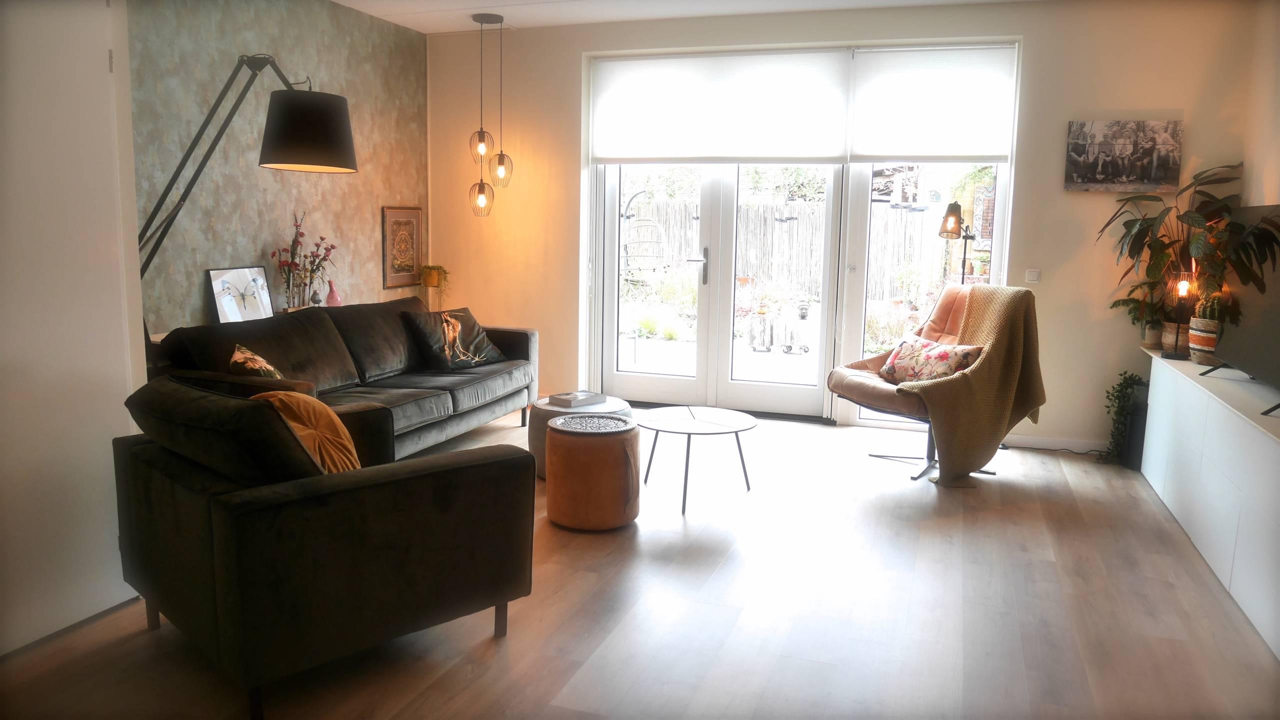 Sfeervolle woonkamer na interieuradvies Arnhem.