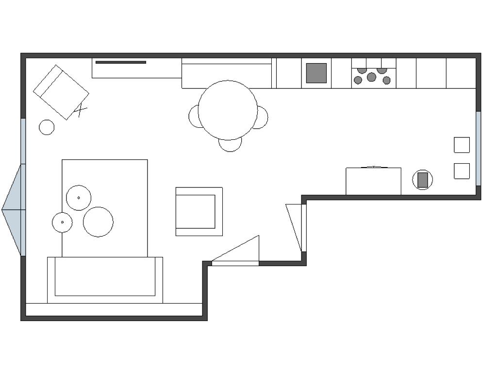 Tekening meubelopstelling interieuradvies Arnhem